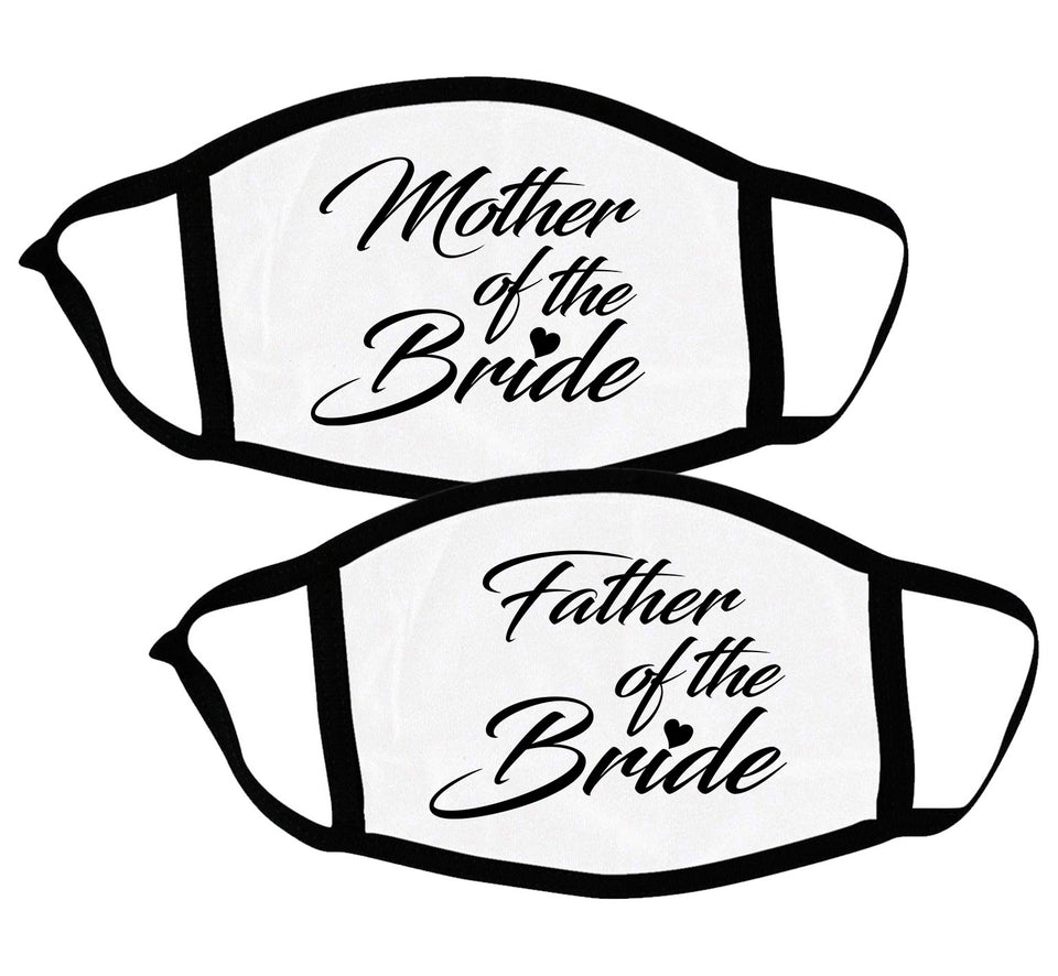 Mother & Father of the Bride - Couple Face Masks