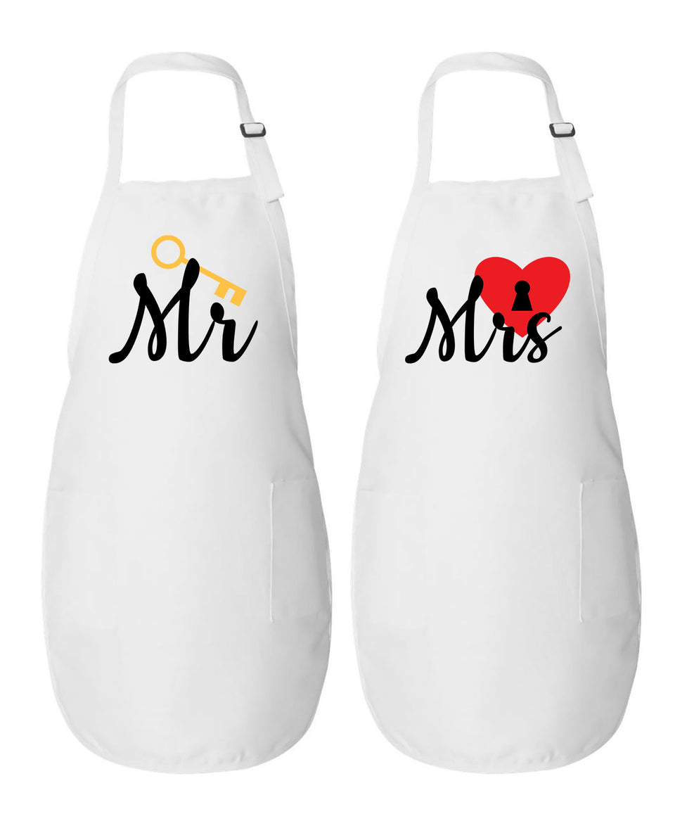 Mr. & Mrs. - Couple Aprons