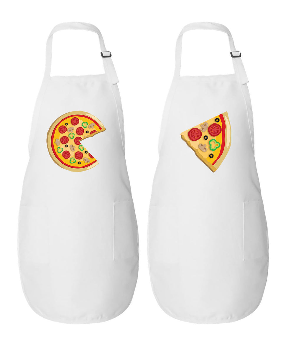 Pizza & Slice - Couple Aprons
