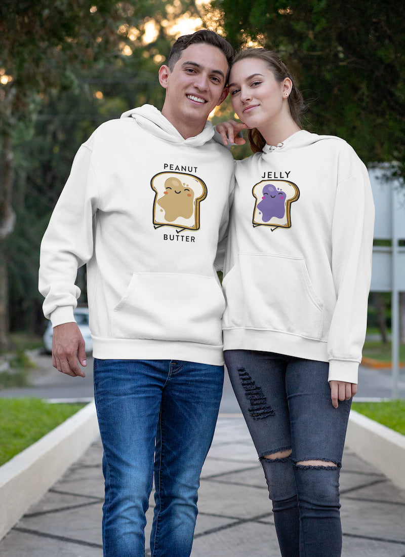 Peanut Butter & Jelly - Couple Hoodies