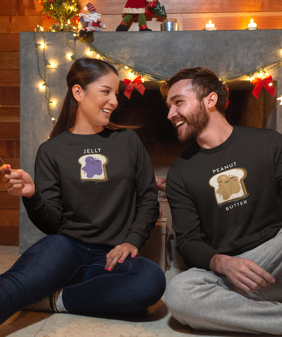Peanut Butter & Jelly - Couple Sweatshirts