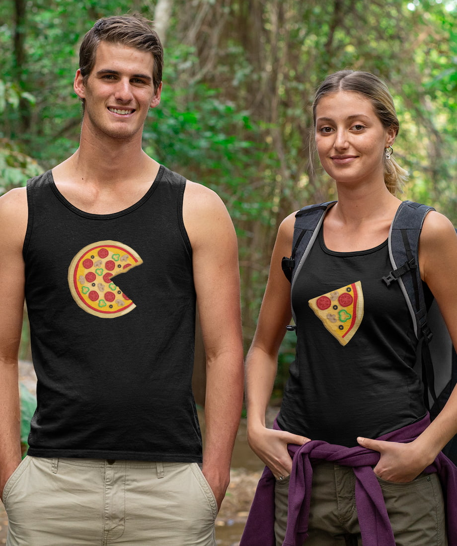 Piece Pizza & Slice - Couple Tank Tops