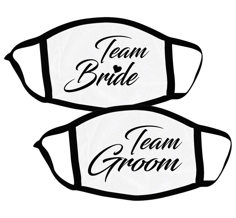 Team Bride & Groom - Couple Face Masks