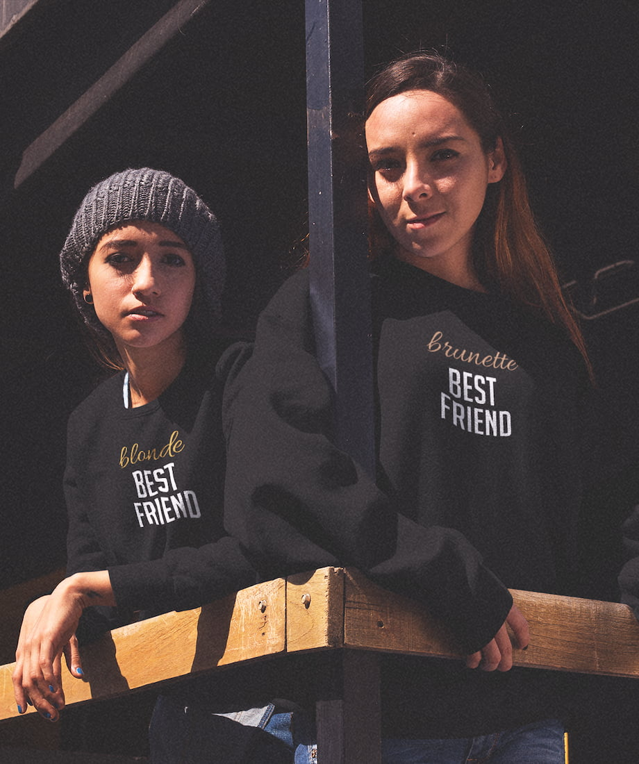 Blonde & Brunette Best Friend - BFF Sweatshirts