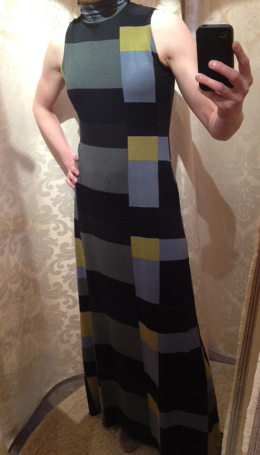 James Bond Geometric Print Dress