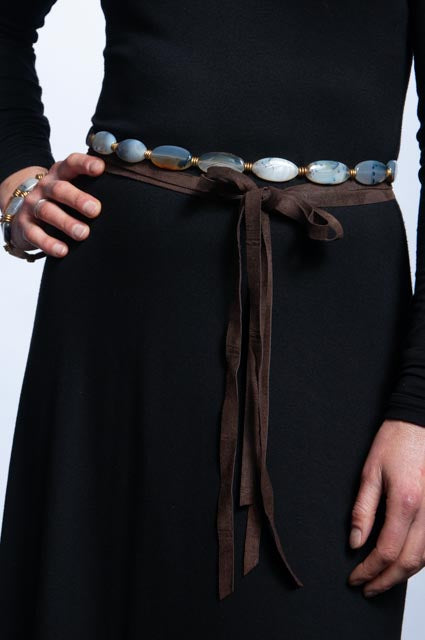 Montana Agate Necklace/Belt  - Oblong
