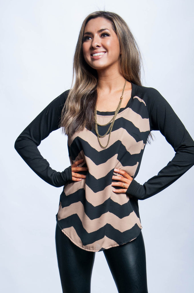 Addie Tunic - Chevron