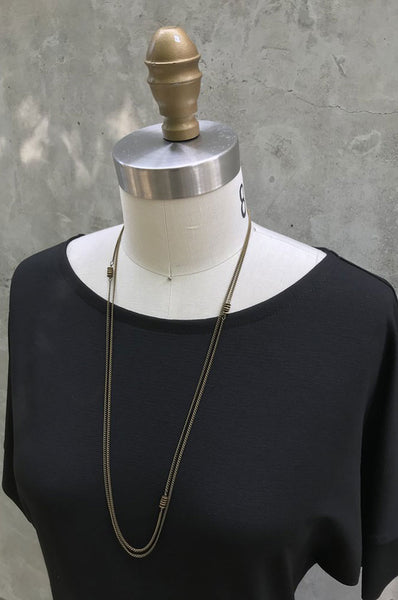 Agave Long Brass necklace