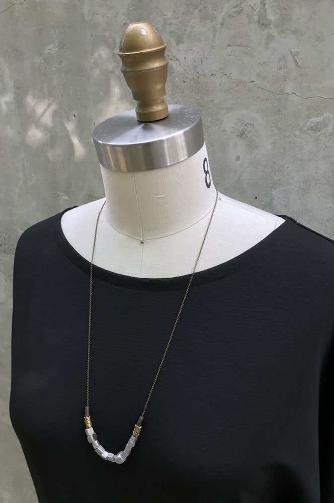 Aluminum and Brass necklace