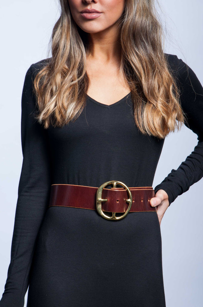 Back Off Belt - Burgundy Leather