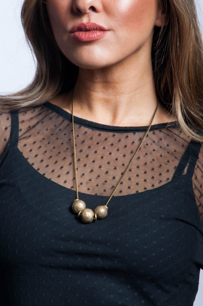 Brass Ball Necklace