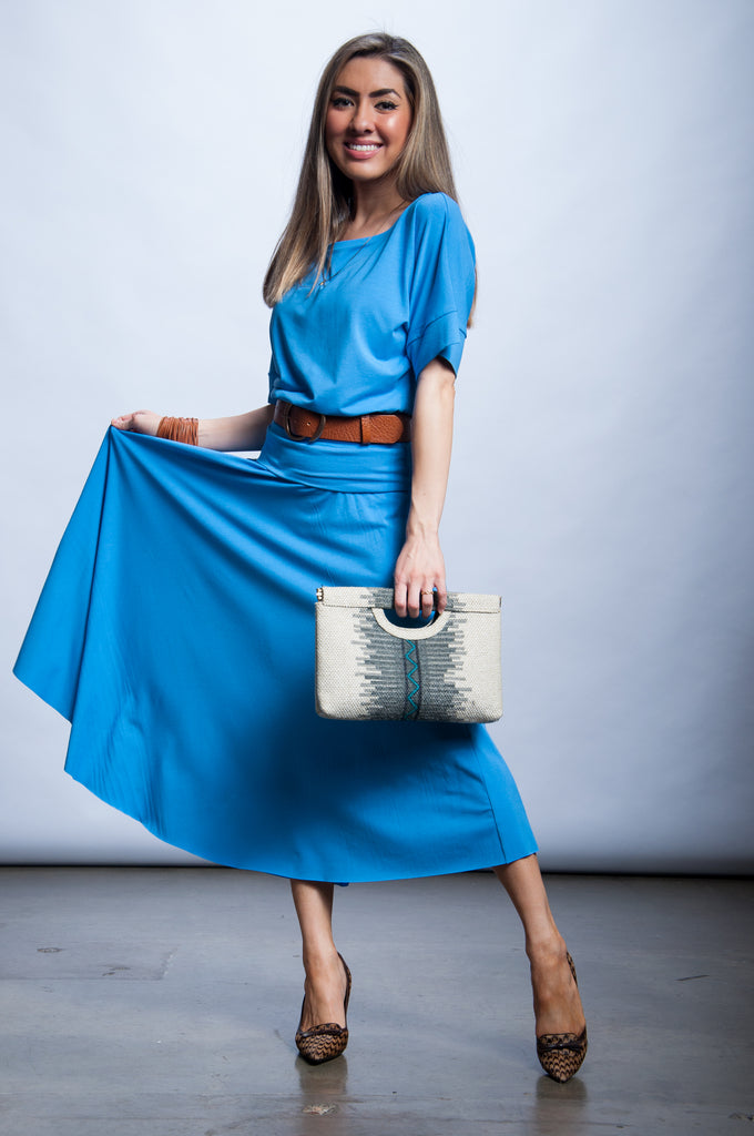 Rhys Skirt - French Blue