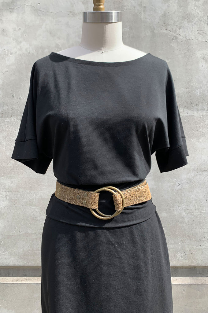 Double Ring Belt - Metallic Gold