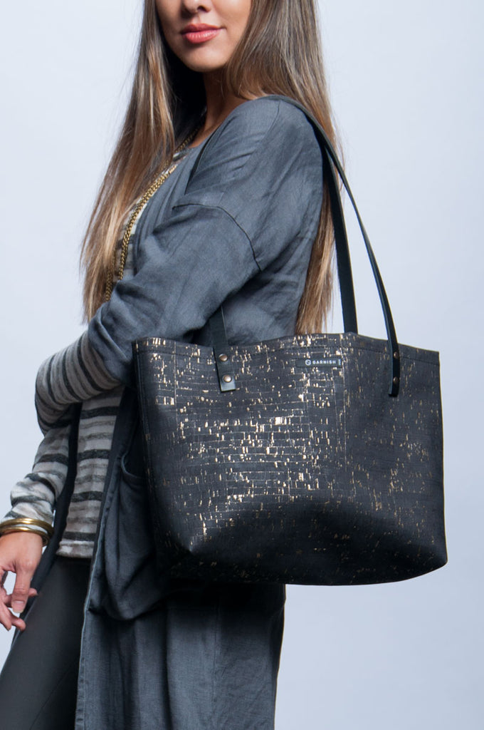 On-The-Go Handbag - Gold Fleck