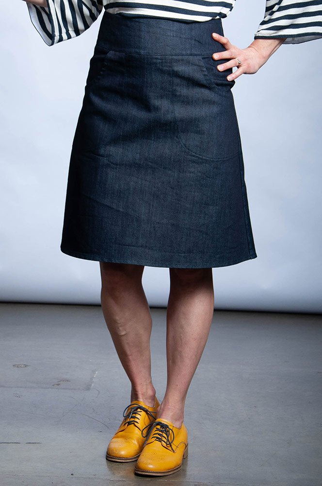 LILLIAN SKIRT - INTENSE DENIM