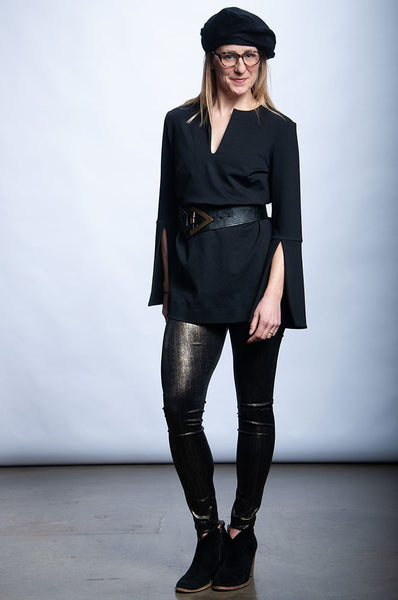 Margaret Tunic - Black Ponte