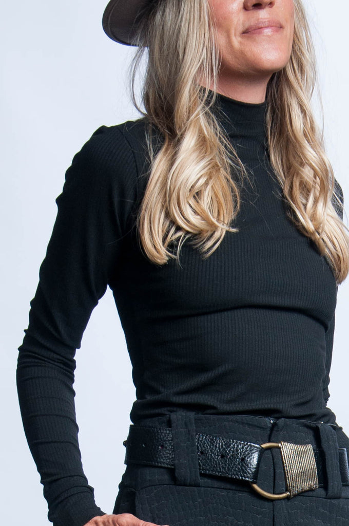 Misako Top - Black Knit