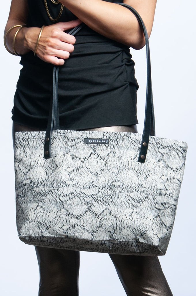 On-The-Go Handbag - Faux Snakeskin
