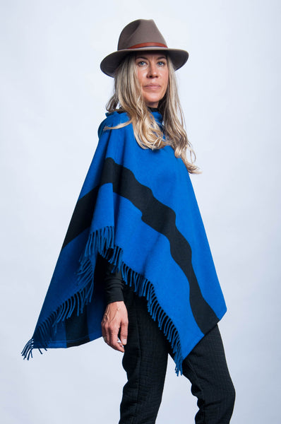 Poncho - Royal Stripe