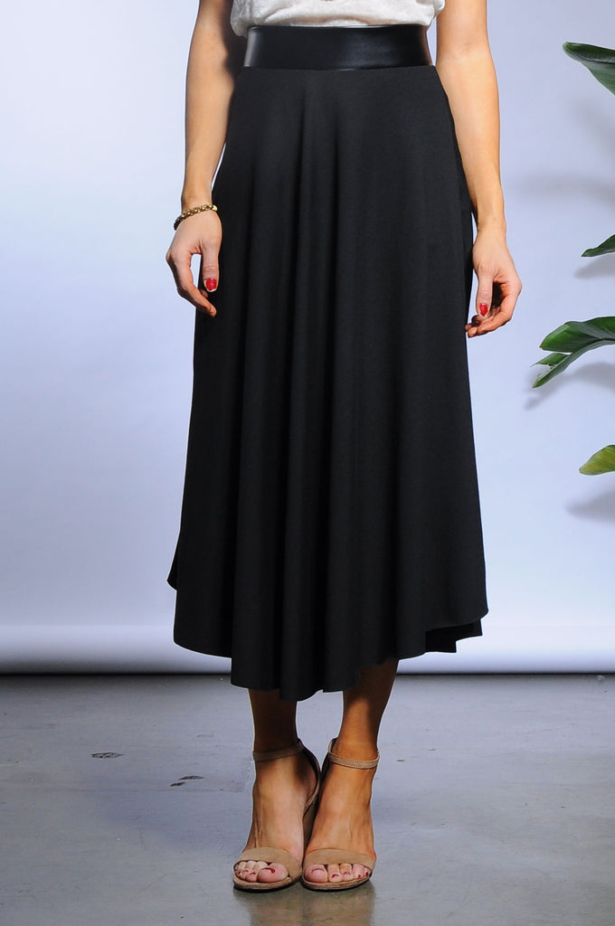 Rhys Skirt - Black/ Faux Leather