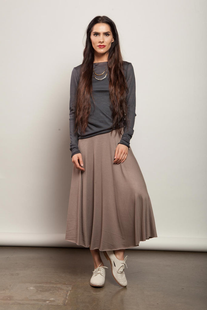 Rhys Skirt - Cafe Con Creme