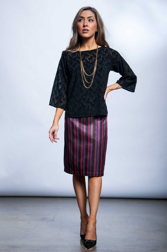 Alison Skirt -Stripes in the City