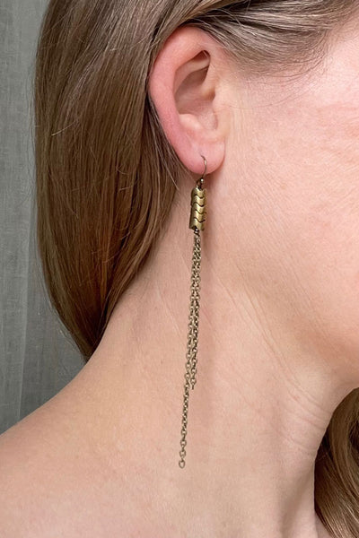 Simplicity Earrings - Snake Bones