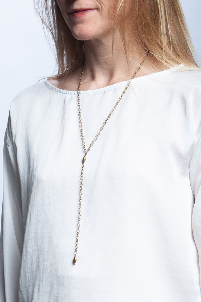Y Not Stacking Necklace - Brass