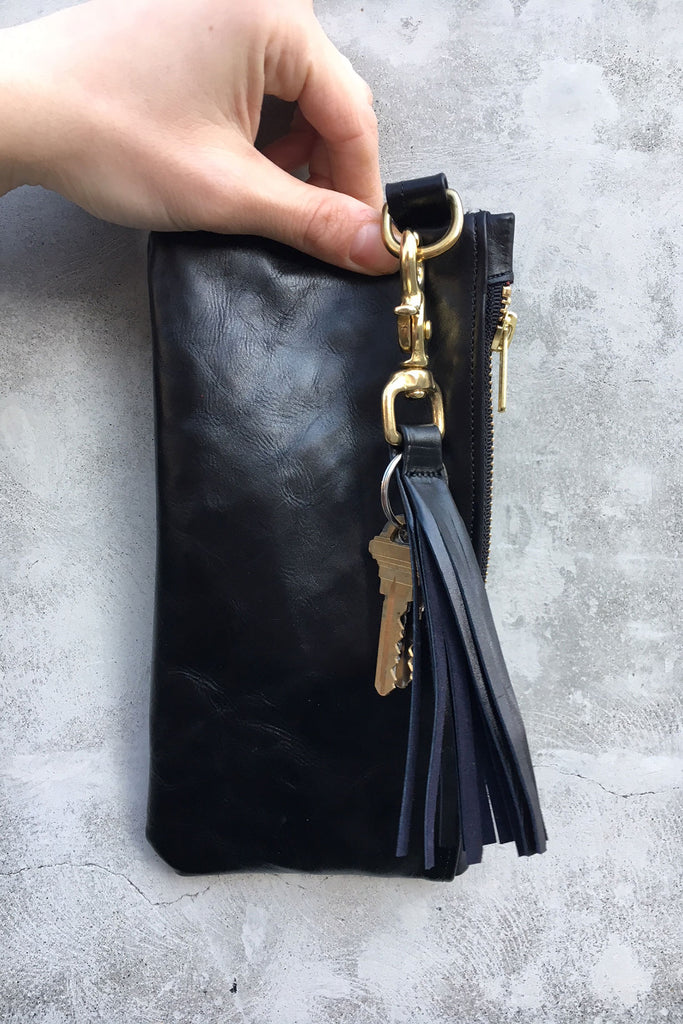 Zippered Pouchette - Lust for Black