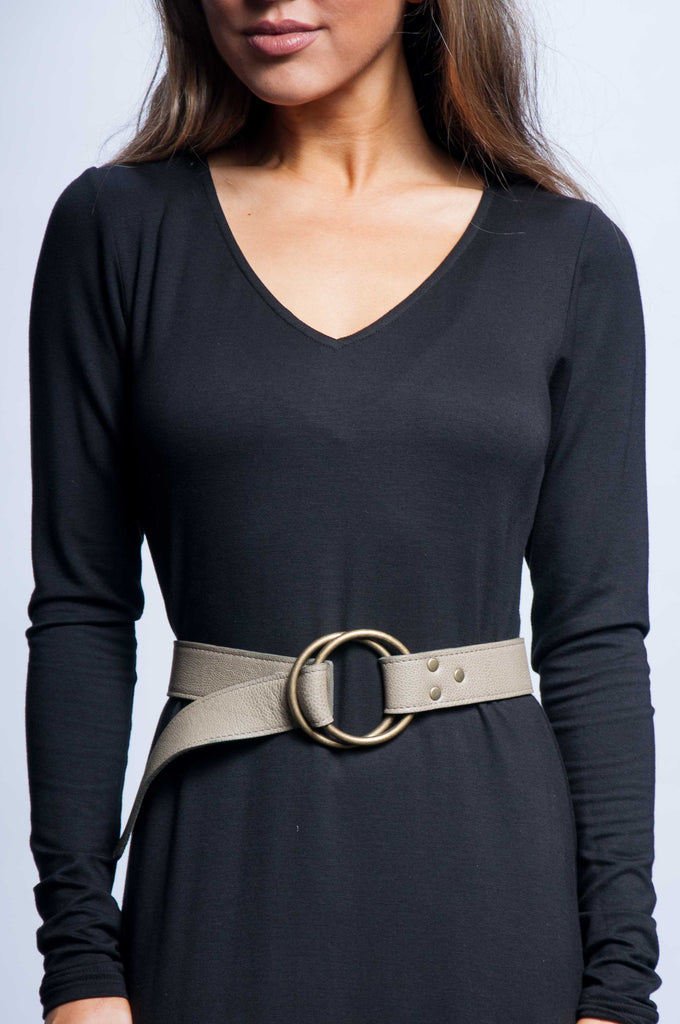 Double Ring Belt - Taupe