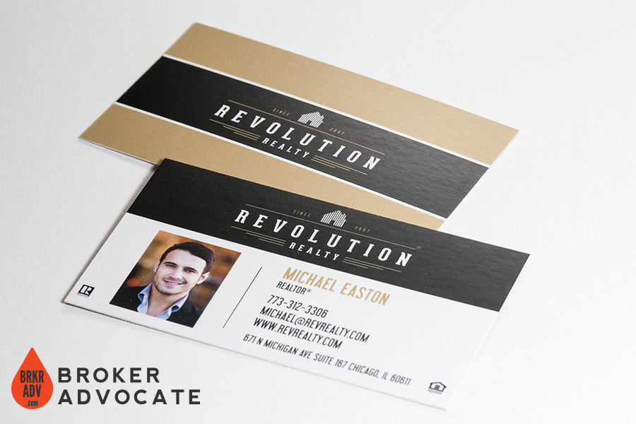 Modern real estate business card template broker advocate revolution matte business card colourmoves Choice Image