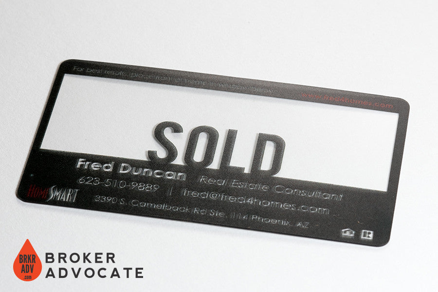 SOLD! - Clear Plastic Business Cards