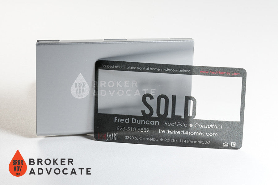 SOLD! - Clear Plastic Business Cards – Broker Advocate
