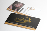 Silk & Foil Business Card w/Round Corners