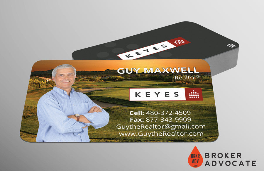 Suede Business Card - Suede, Round Corners & Spot UV