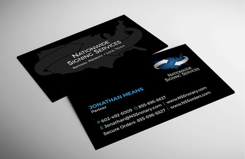 Nationwide Signing Services - Standard Business Card