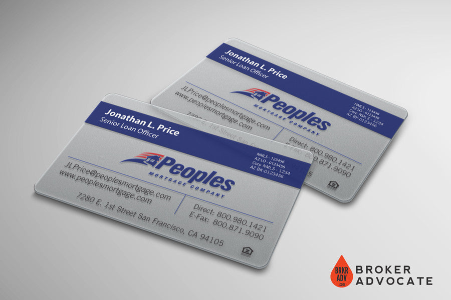 Frosted Plastic Business Cards - Mortgage and Real Estate – Broker ...