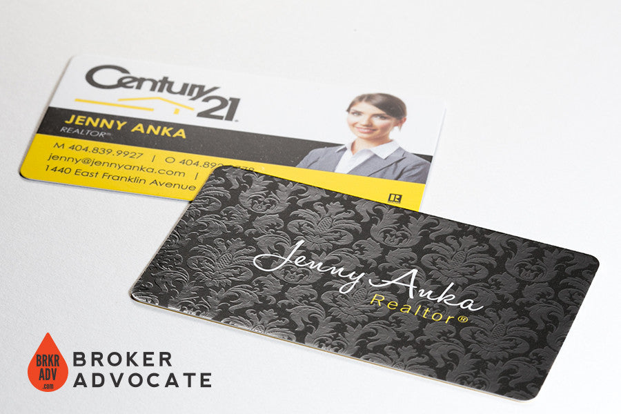 Luxury Real Estate Business Cards - Silk with Spot UV – Broker Advocate