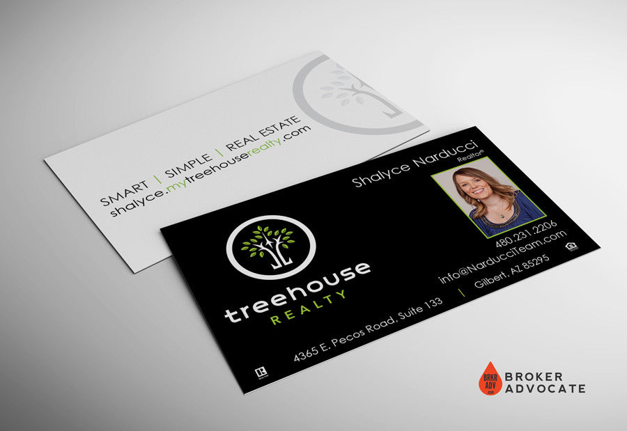 Treehouse Realty Business Card - Silk & Spot UV with Photo ...