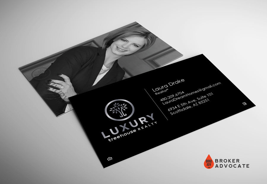 Treehouse Realty Luxury Card - Silk, Silver Foil & Spot UV with Photo