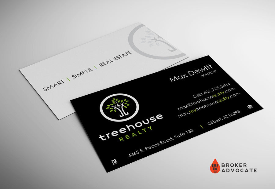 Treehouse Realty Business Card - Silk & Spot UV – Broker Advocate