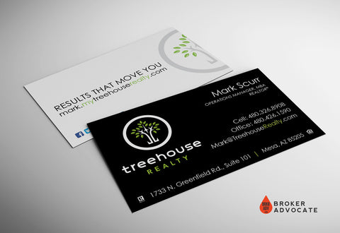 "Treehouse Realty ""Results That Move You"" Business Card - Silk & Spot UV"