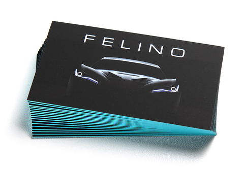 32 PT Silk Laminated Business Card w/Painted Edges