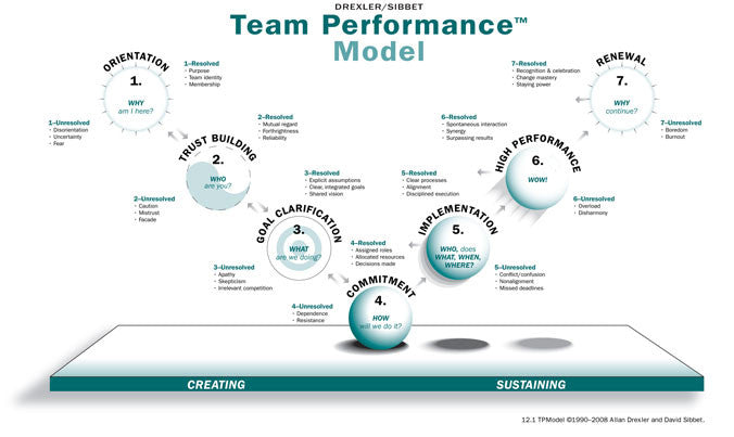 Team Performance Model Wall Poster
