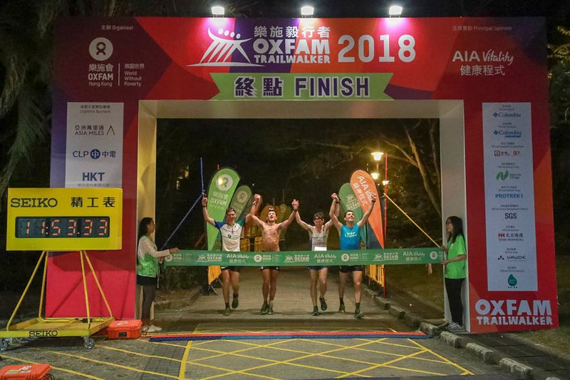 Gone Running/Joint Dynamics Team wins Oxfam Trailwalker 2018!