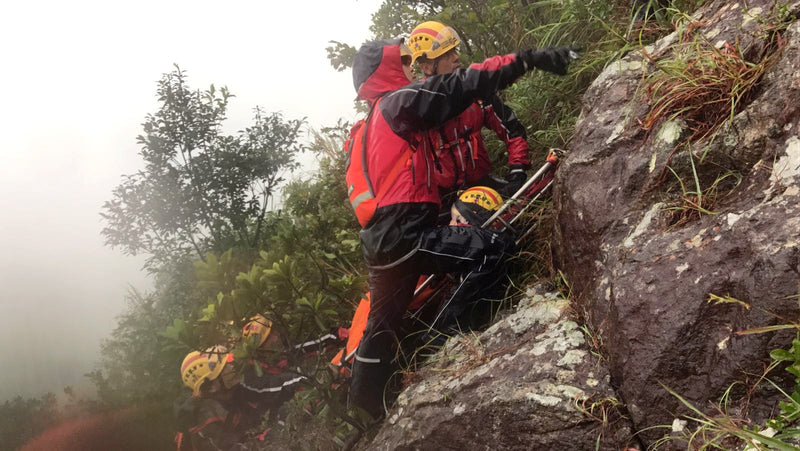 rescue of fallen hikers in Hong Kong
