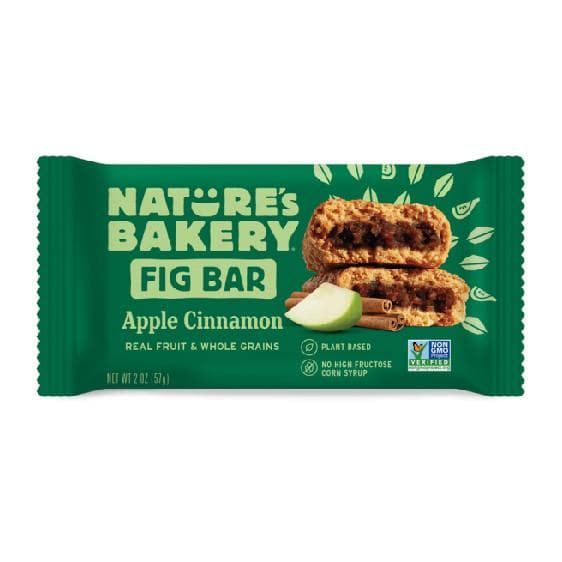 Nature's Bakery Fig Bar - Apple Cinnamon Twin Pack, Sports Bar, Nature's Bakery - Gone Running