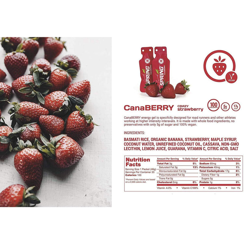 Spring Sports Nutrition - Canaberry  (Vegan), Energy Gel, Spring Sports Nutrition - Gone Running