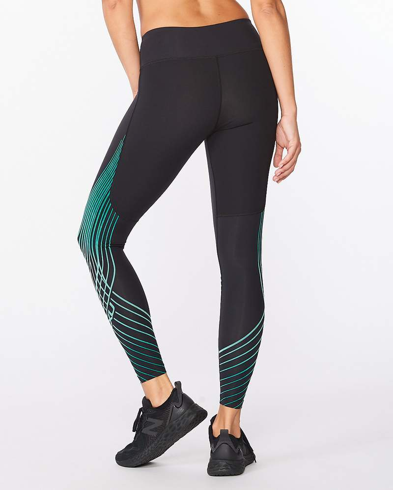 2XU Women's Motion Texture Mid-Rise Compression Tights - Gone Running
