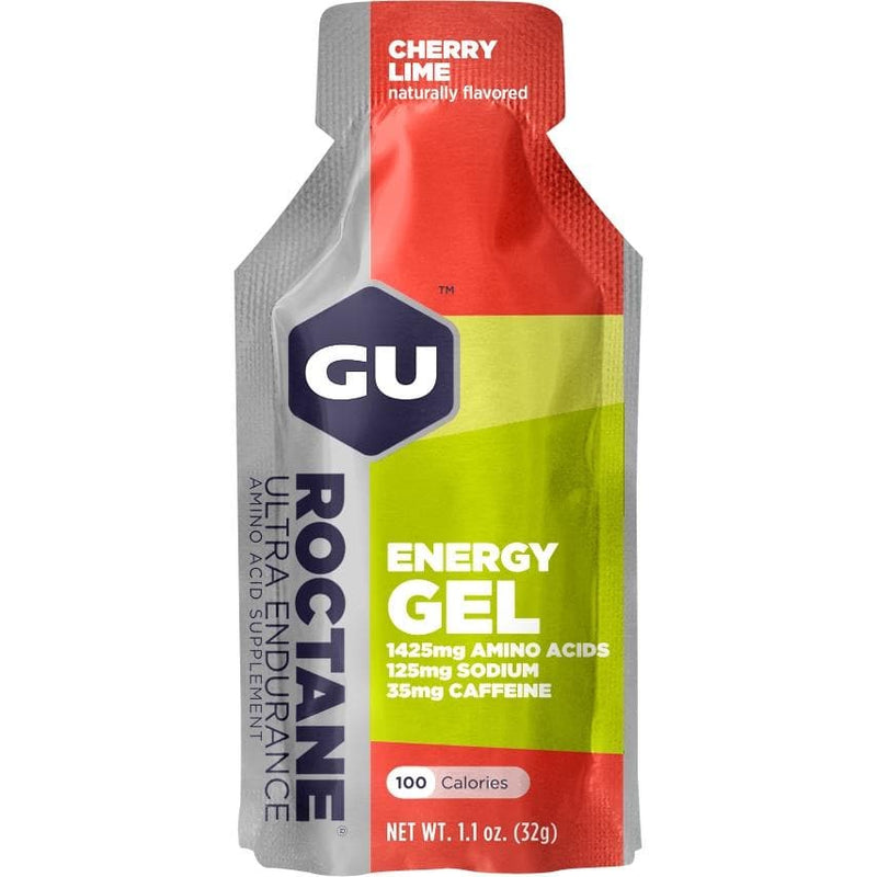 GU Roctane Energy Gel - Cherry Lime, Energy Gel, GU - Gone Running